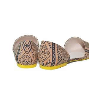 Large Size Women Shoes Ethnic Print Flat 11 12 Flats Size 10 Lonia
